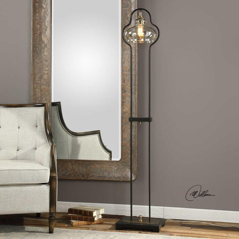 Uttermost Uttermost Cotulla Amber Glass Floor Lamp