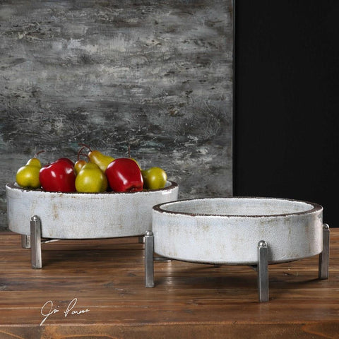 Uttermost Uttermost Essie Pale Gray Bowls Set of 2