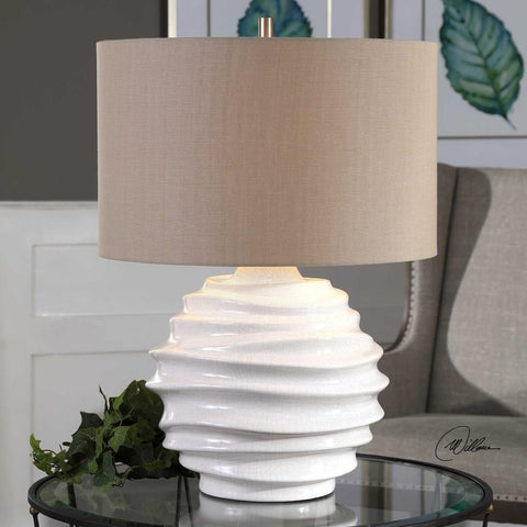 Uttermost Uttermost Gisasa Crackled White Lamp