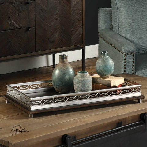 Uttermost Uttermost Gualtiero Nickel & Wood Tray