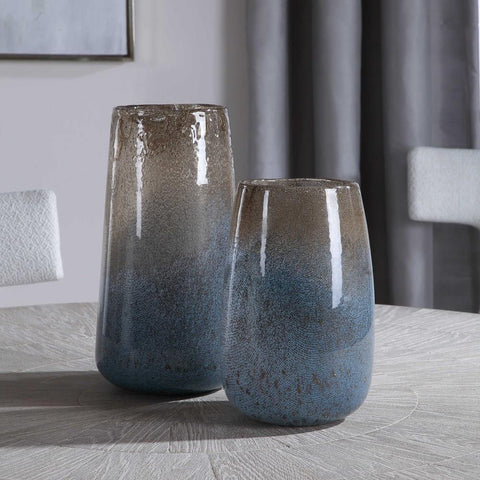 Uttermost Uttermost Ione Seeded Glass Vases, Set of 2