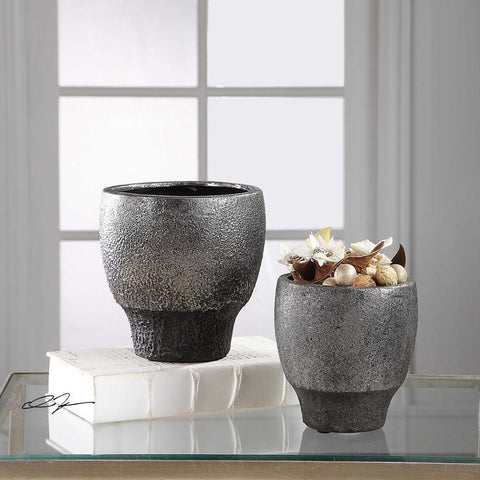 Uttermost Uttermost Jayda Lava Black Bowls Set of 2