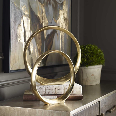 Uttermost Uttermost Jimena Gold Ring Sculptures Set of 2