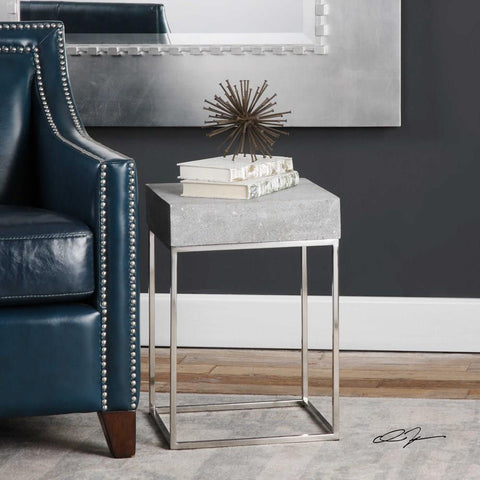Uttermost Uttermost Jude Concrete Accent Table
