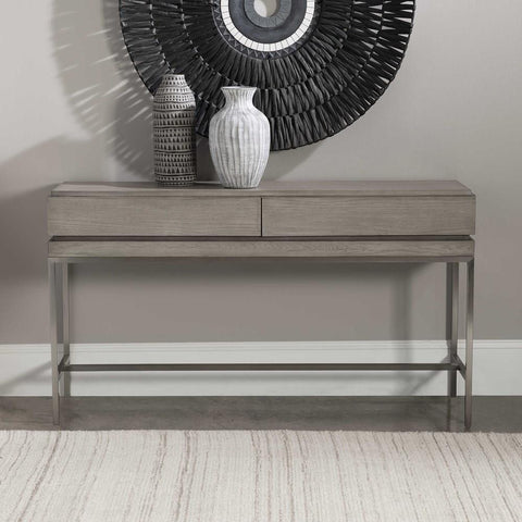 Uttermost Uttermost Kamala Gray Oak Console Table