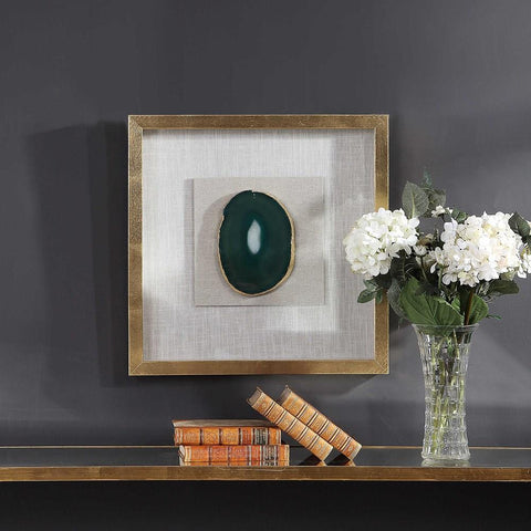 Uttermost Uttermost Keeva Agate Stone Shadow Box