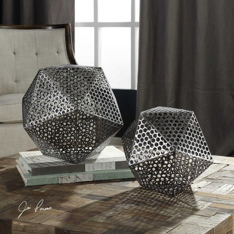 Uttermost Uttermost Kimora Aged Icosahedrons Set of 2