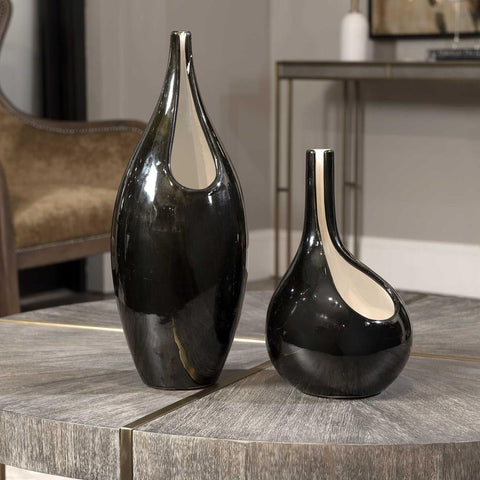 Uttermost Uttermost Lockwood Modern Vases, Set of 2