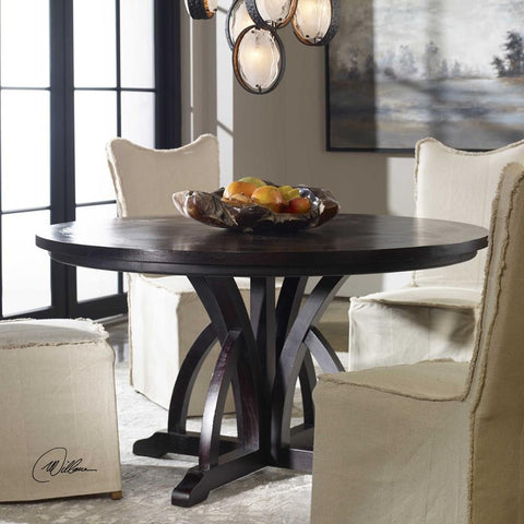 Uttermost Uttermost Maiva Round Black Dining Table