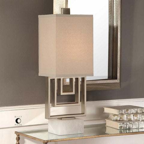 Uttermost Uttermost Medora Brushed Nickel Lamp