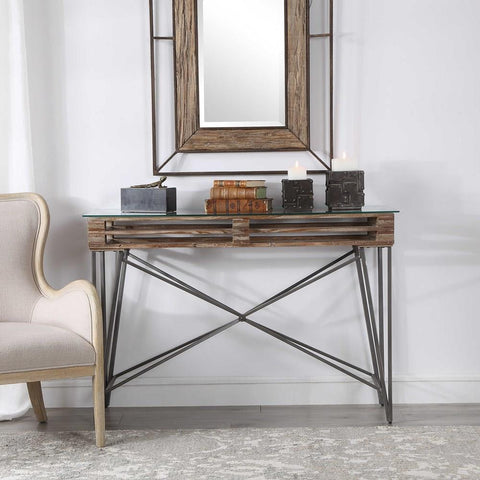 Uttermost Uttermost Ryne Industrial Console Table