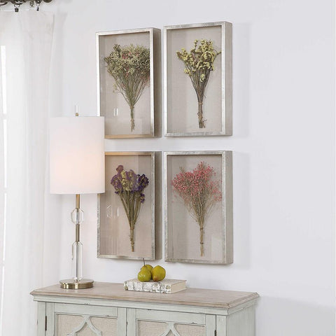 Uttermost Uttermost Summer Bouquets Shadow Box Set of 4