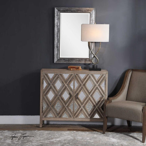 Uttermost Uttermost Tahira Mirrored Accent Cabinet