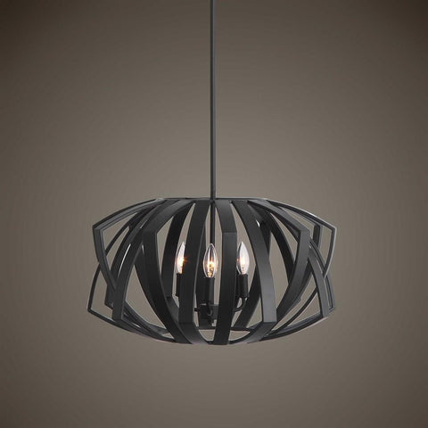 Uttermost Uttermost Thales Black Geometric 3 Light Pendant