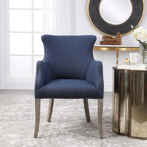 Uttermost Uttermost Yareena Blue Wing Chair