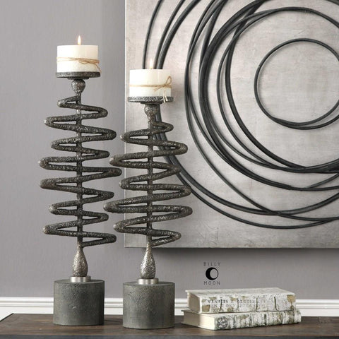 Uttermost Uttermost Zigzag Candleholders Set of 2
