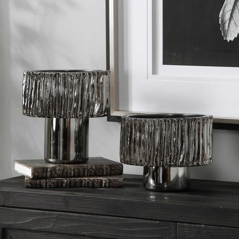 Uttermost Uttermost Zosia Nickel Bowls, Set of 2