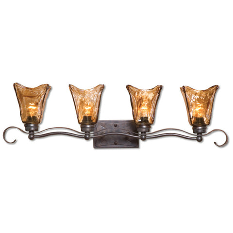 Uttermost Vetraio 4 Lt Vanity Strip in Oil Rubbed Bronze