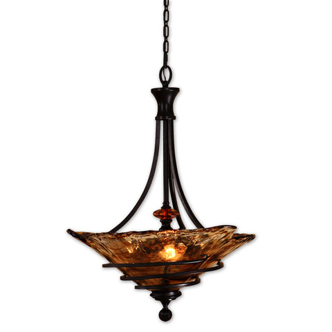 Uttermost Vitalia 3 Lt Pendant in Oil Rubbed Bronze