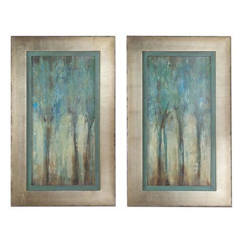 Uttermost Whispering Wind 2 Framed Art Panels