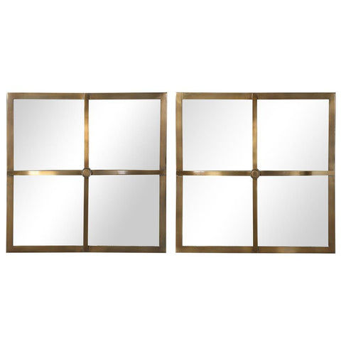 Uttermost Window Pane Square Mirrors, S/2