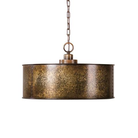Uttermost Wolcott 3 Light Golden Pendant