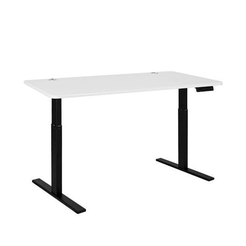 Vifah A55-A12 Autonomous SmartDesk - Height-Adjustable Standing Desk - Single Motor - Black Frame - White Classic Top