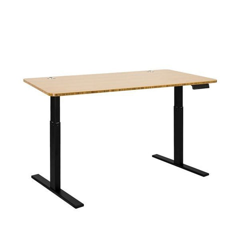 Vifah A55-A9 Autonomous SmartDesk - Height-Adjustable Standing Desk - Single Motor - Black Frame - Bamboo Classic Top