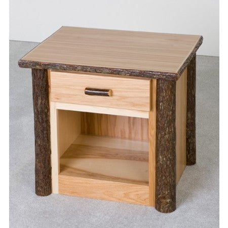 Viking Hickory 1 Drawer Nightstand in Clear Finish