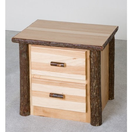 Viking Hickory 2 Drawer Nightstand in Clear Finish