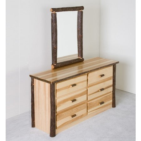 Viking Hickory 6 Drawer Dresser in Clear Finish