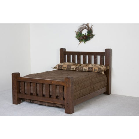 Viking Lumberjack Barnwood Bed