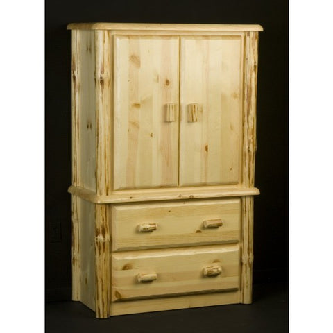 Viking Wilderness 2 Drawer Armoire in Clear Finish