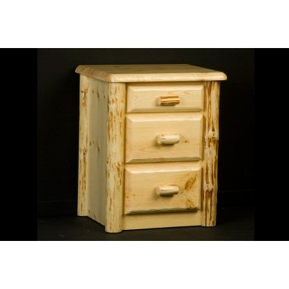 Viking Wilderness 3 Drawer Nightstand in Clear Finish