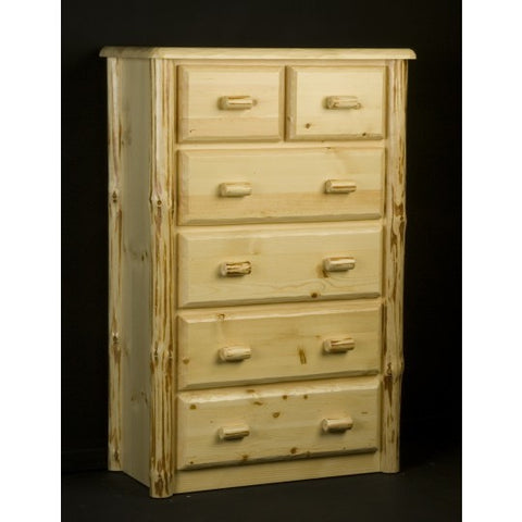 Viking Wilderness 6 Drawer Chest in Clear Finish