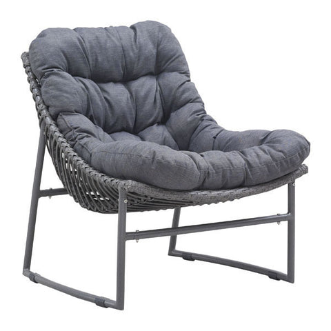 Zuo Modern Ingonish Beach Chair in Grey