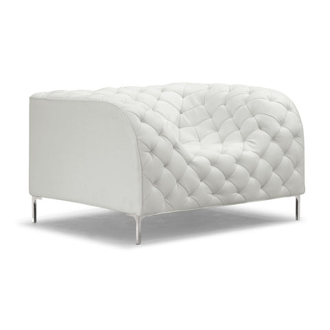 Zuo Providence Armchair in White