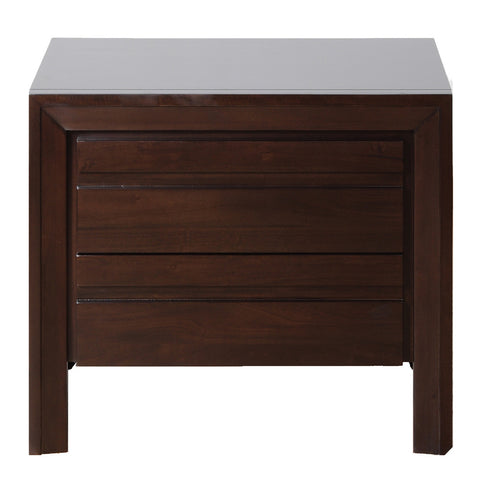 Modus Element 2 Drawer Nightstand in Chocolate Brown
