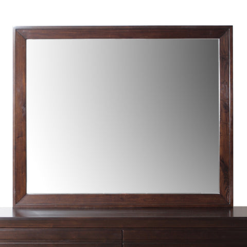 Modus Element Rectangular Mirror in Chocolate Brown