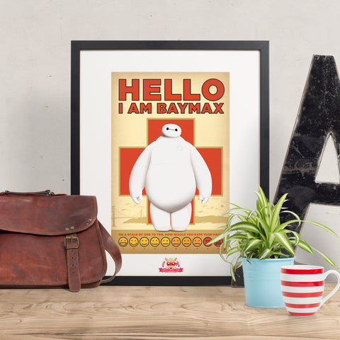 Hello! I am Baymax! - Big Hero 6 inspired Print