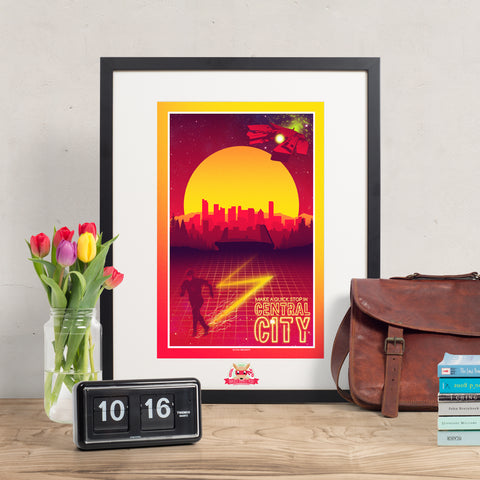 Make a quick stop in Central City - The Flash inspired print
