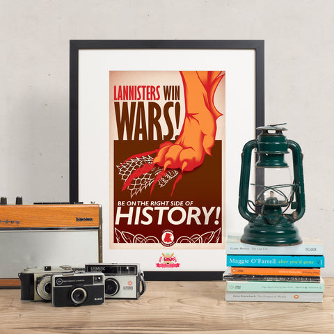 Lannister Win Wars - Game of Thrones Print || Lannister Propaganda Poster