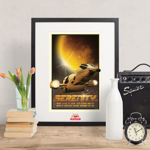 Now Boarding: SERENITY - Firefly Inspired Print