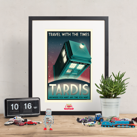 Now Boarding: TARDIS - Doctor Who Inspired Print