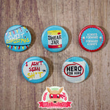 Luke Cage inspired buttons - pinback or magnets