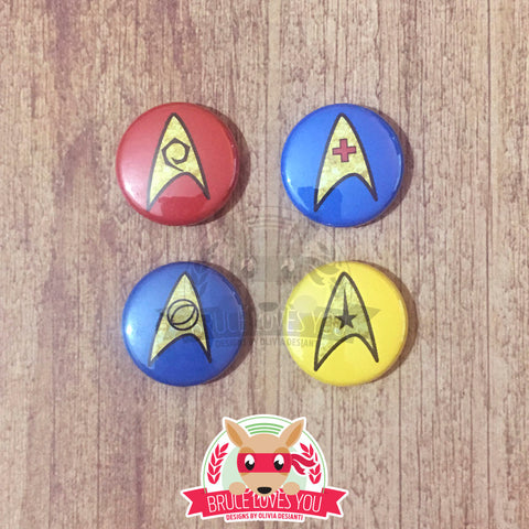 Star Trek inspired Button Pack