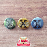 The X-Files inspired buttons - pinback or magnets