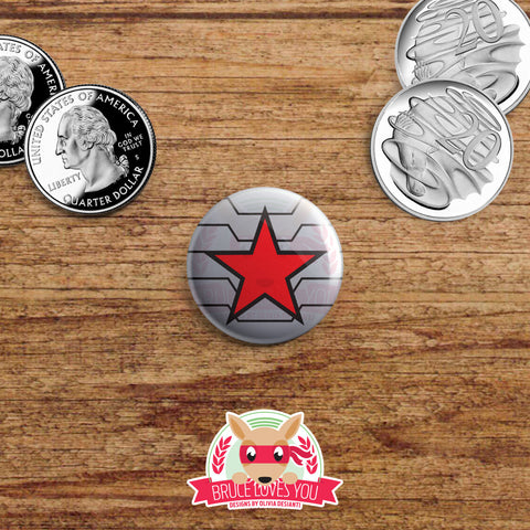 Avengers symbols inspired buttons - pinback or magnets