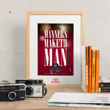 Manners Maketh Man - Kingsman inspired Print