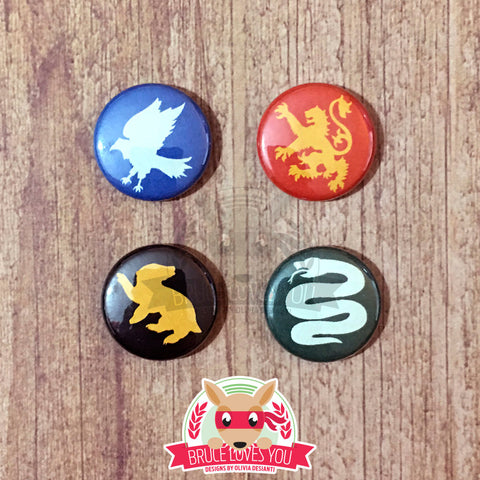 Hogwarts Houses inspired Button Pack